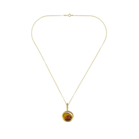 Amber circle necklace