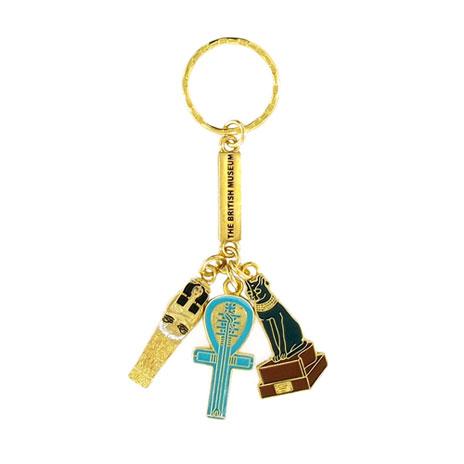Egyptian charms keyring