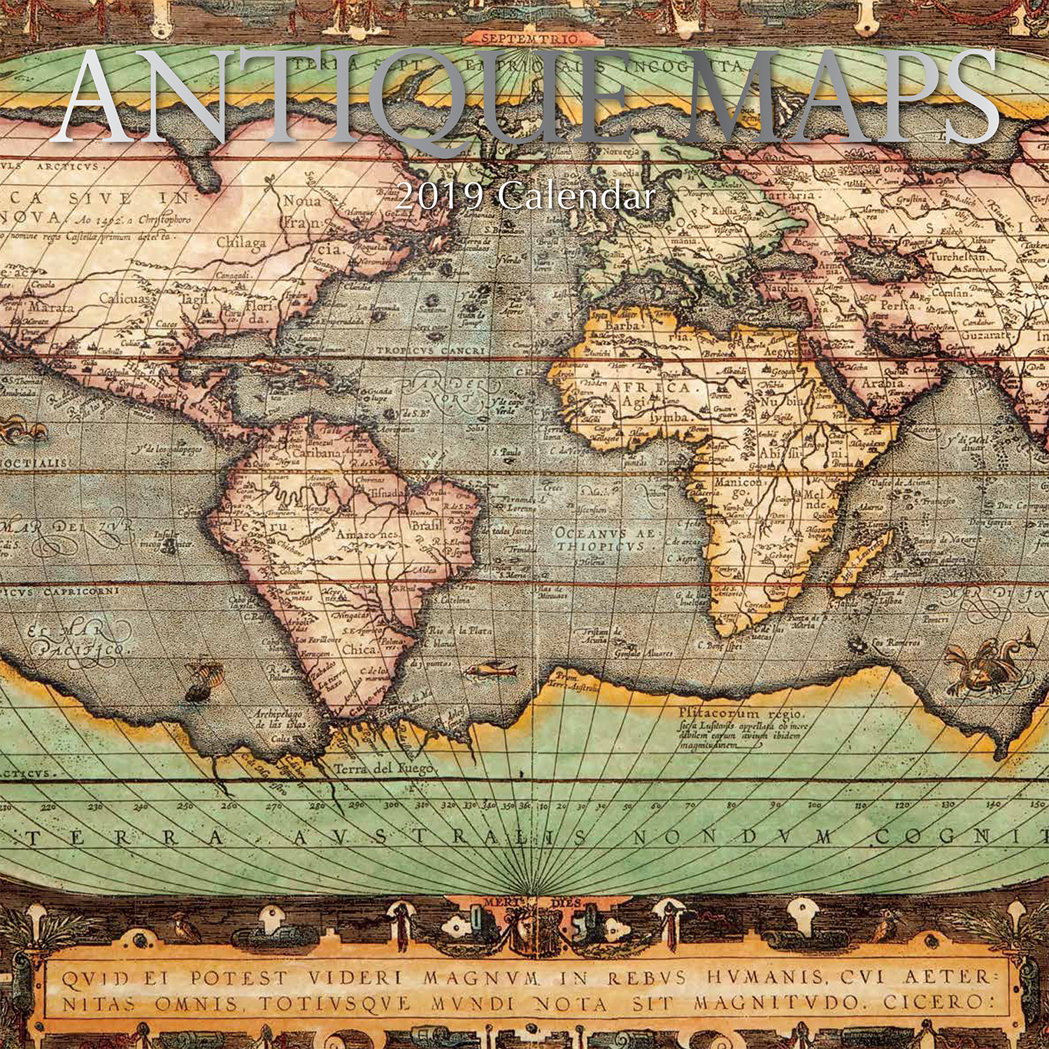 Antique maps 2019 calendar