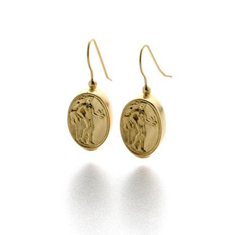 Aphrodite coin earrings