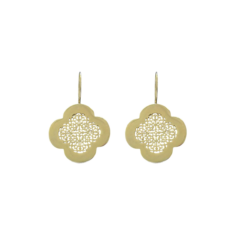 Arabesque drop earrings