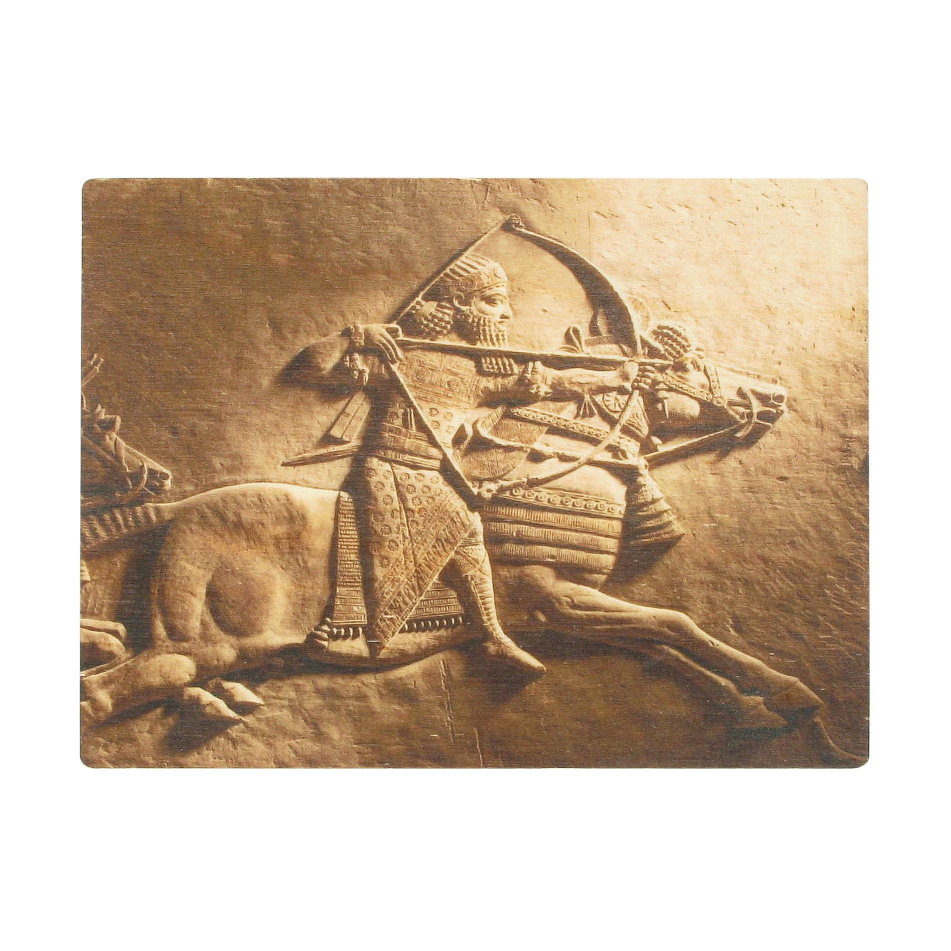 Ashurbanipal wooden postcard