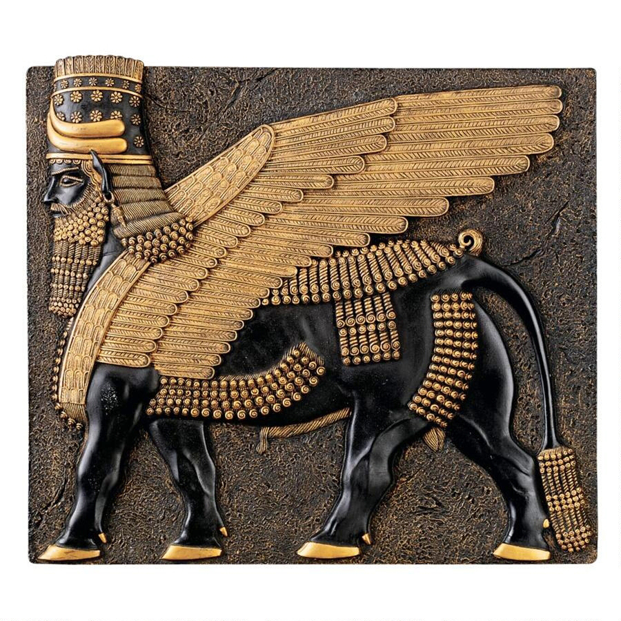 Assyrian winged bull plaque