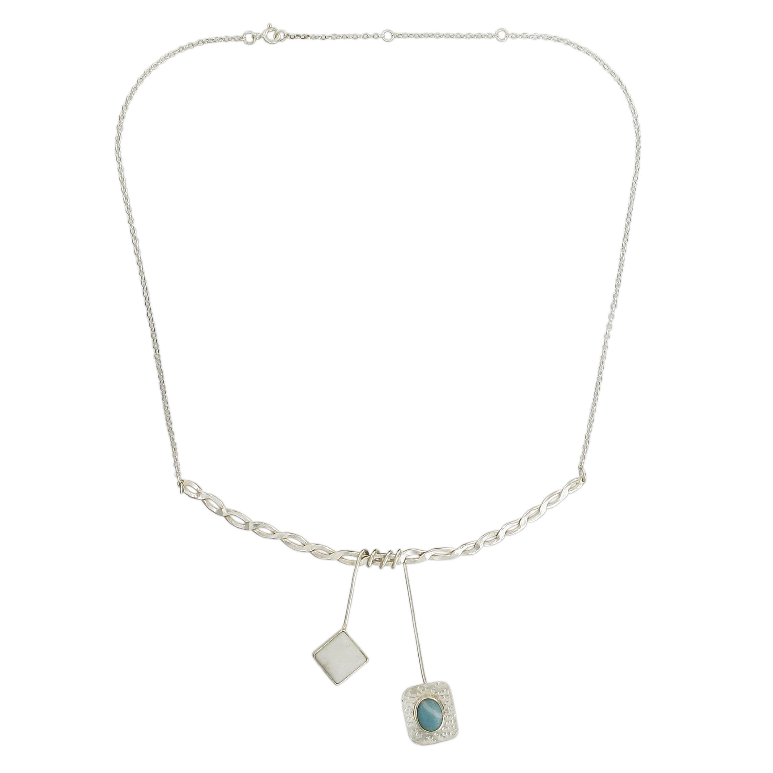 Athena howlite necklace
