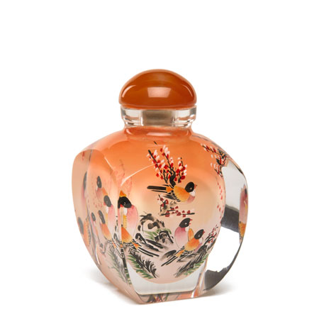 Chinese snuff bottle (Birds)