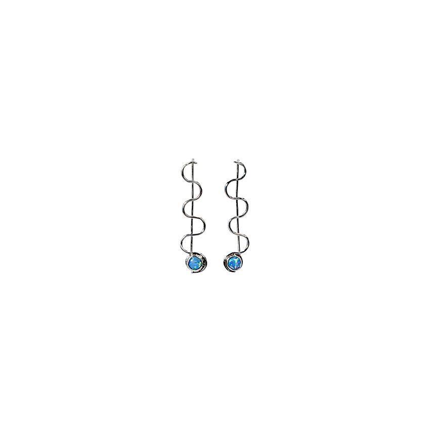 Blue opal drop earrings