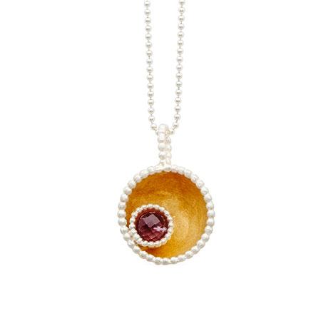 Byzantine amethyst pendant necklace