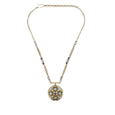 Byzantine moonstone necklace