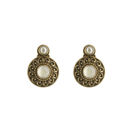 Byzantine moonstone stud earrings