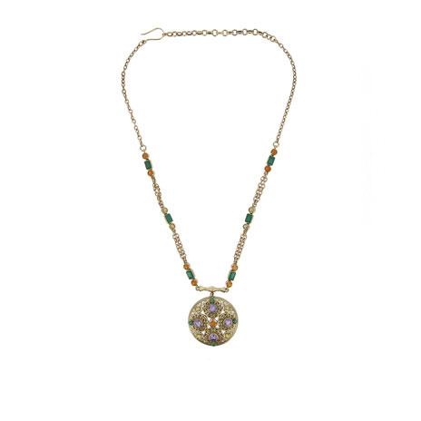 Byzantine purple necklace