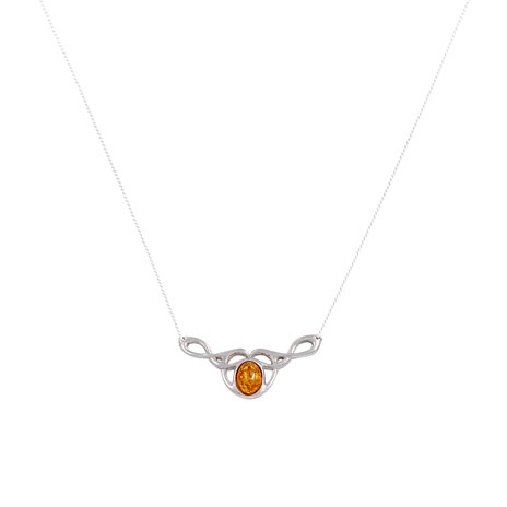 Celtic Knot necklace (amber)