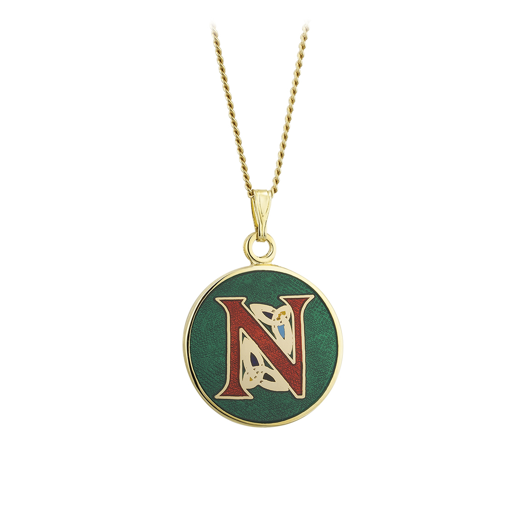 Celtic initial pendant necklace n aloadofball Choice Image