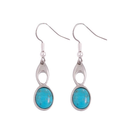 Celtic Knot earrings (turquoise)