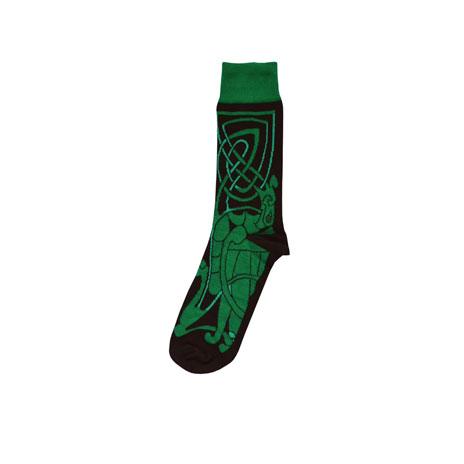Celtic socks (black and green)