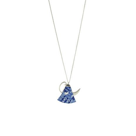 Ceramic kettle pendant necklace