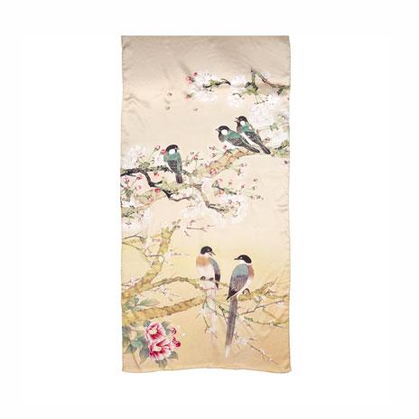 Chinese birds scarf