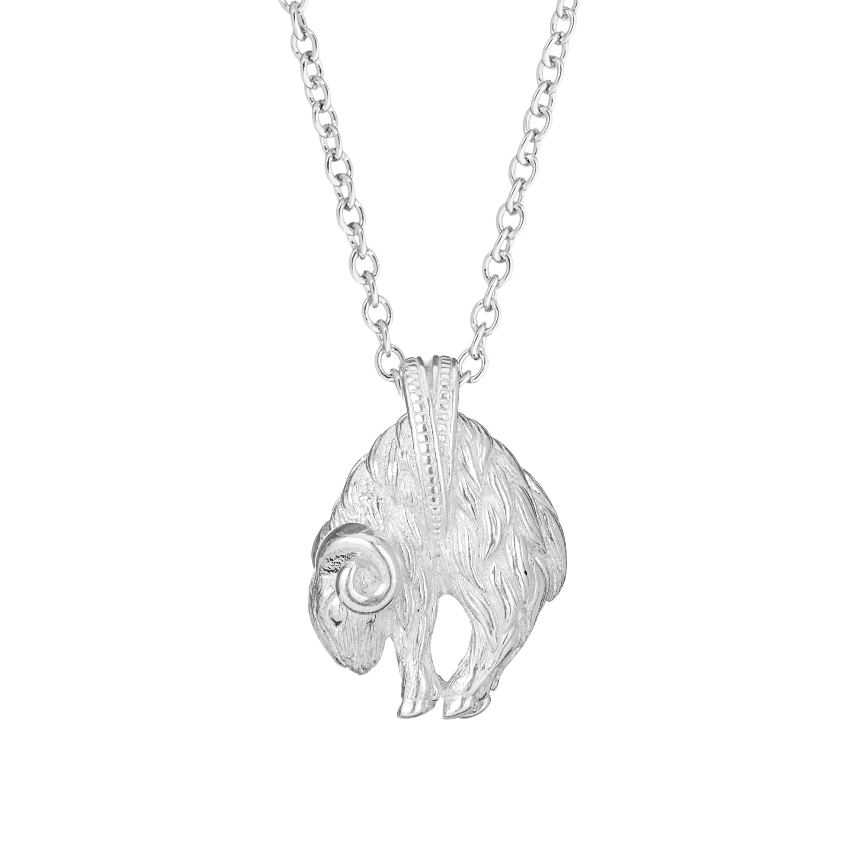 Chinese zodiac pendant necklace (goat)
