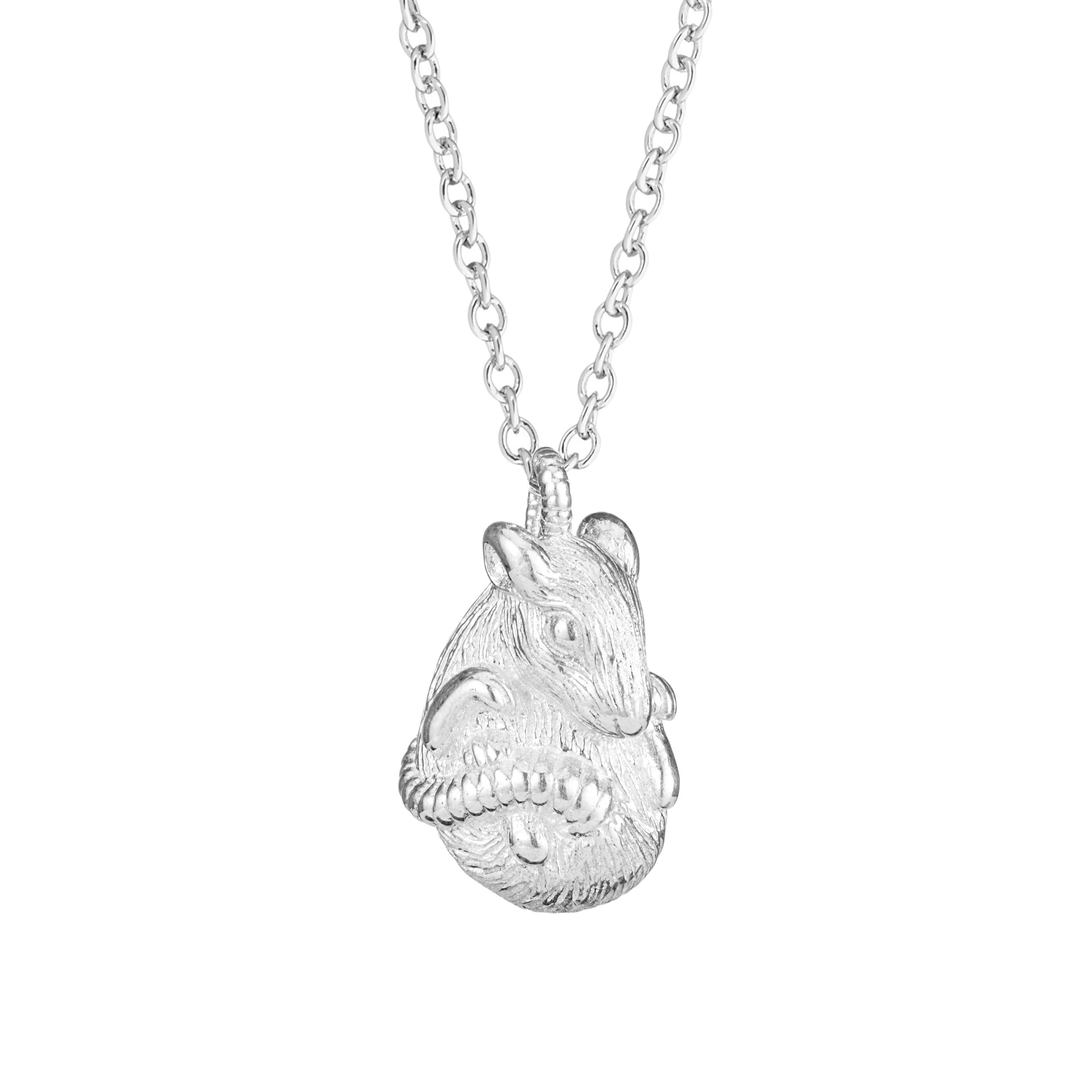 Chinese zodiac pendant necklace (rat)