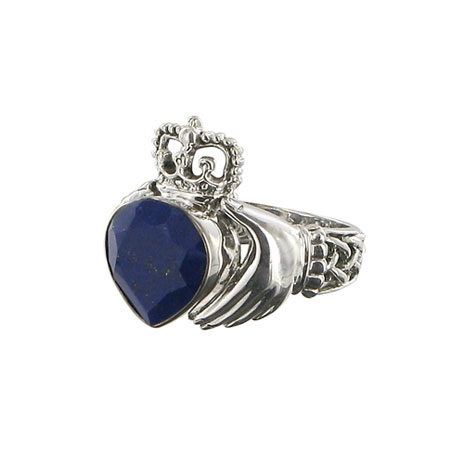 Claddagh lapis ring
