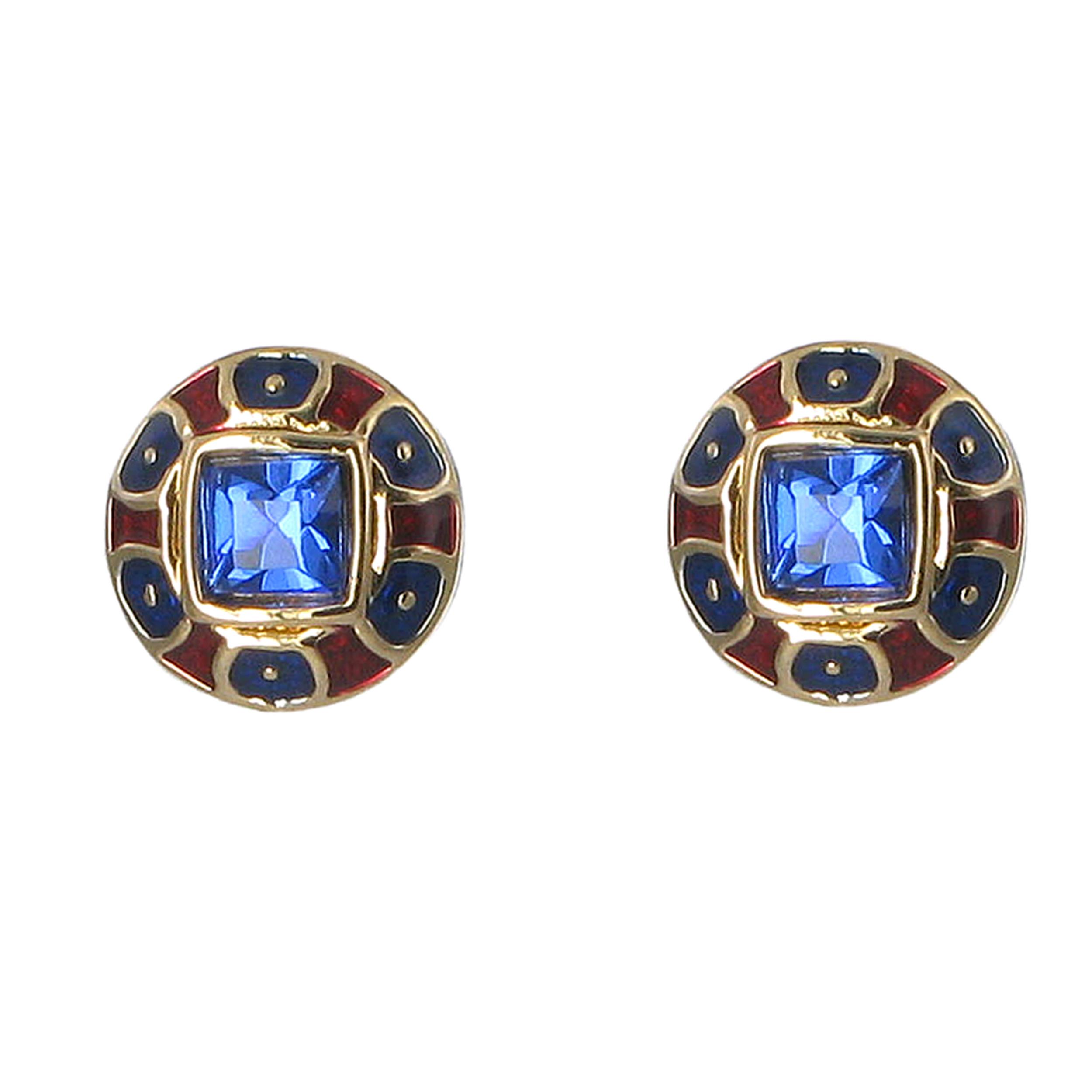 Classical carnelian stud earrings