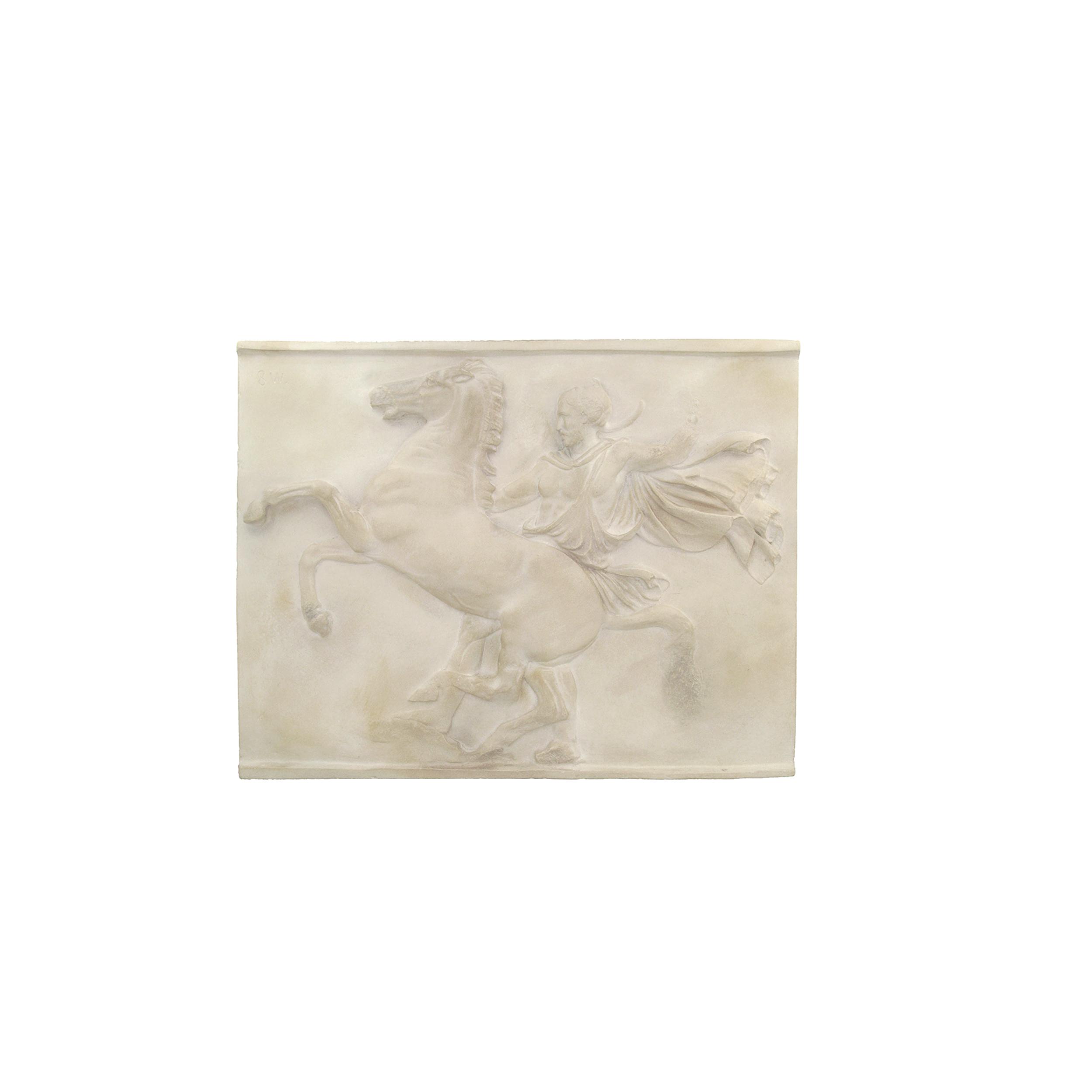 Parthenon sculpture plaque: Cloaked horseman