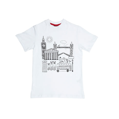 Children's colour in t-shirt