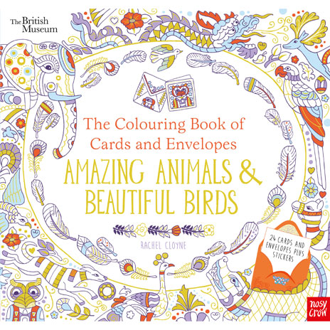 The Colouring Book of Cards and Envelopes: Amazing Animals and Beautiful Birds