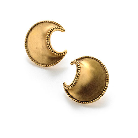 African Crescent earrings