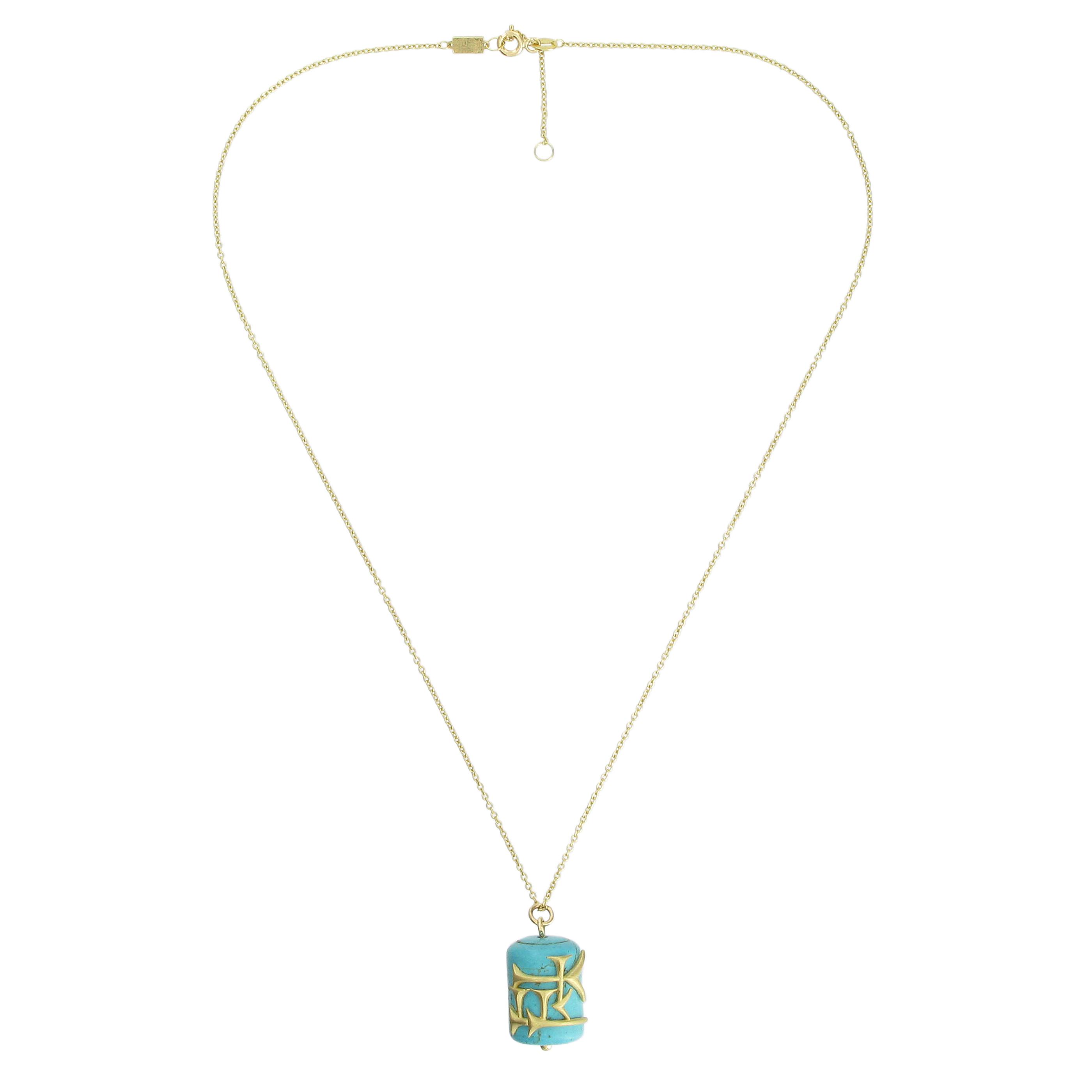 Cuneiform turquoise necklace (love)