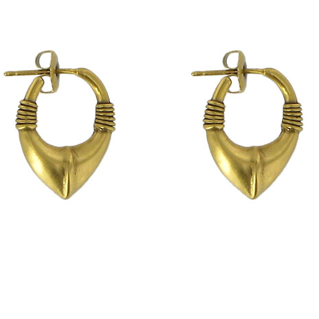 Cypriot Chevron gold earrings