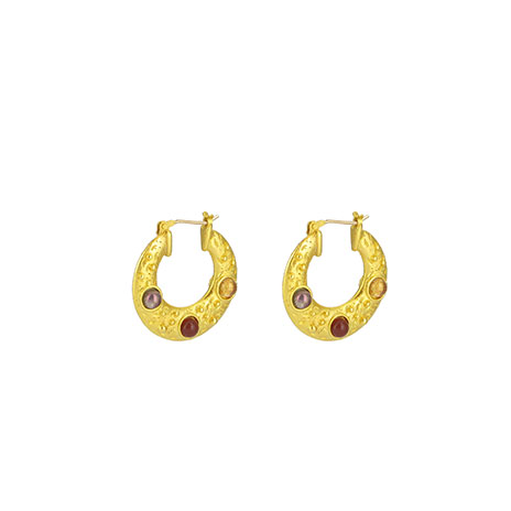 Cypriot crescent earrings