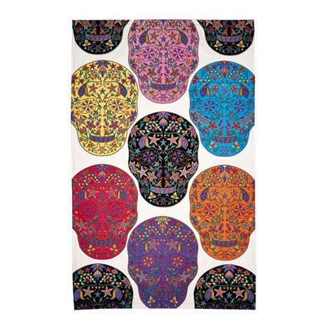 Day of the Dead tea towel