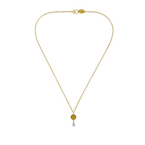 Dahlia pendant necklace (gold)