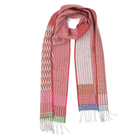 Duo pink scarf