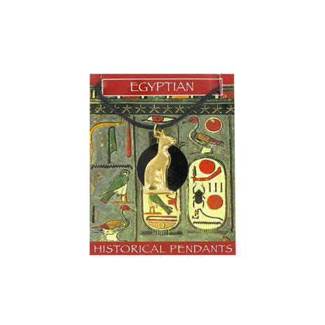 Egyptian Cat novelty pendant (gold)