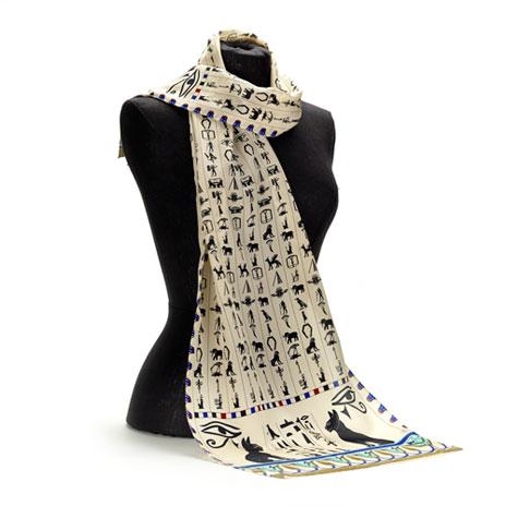 Egyptian Hieroglyphs scarf