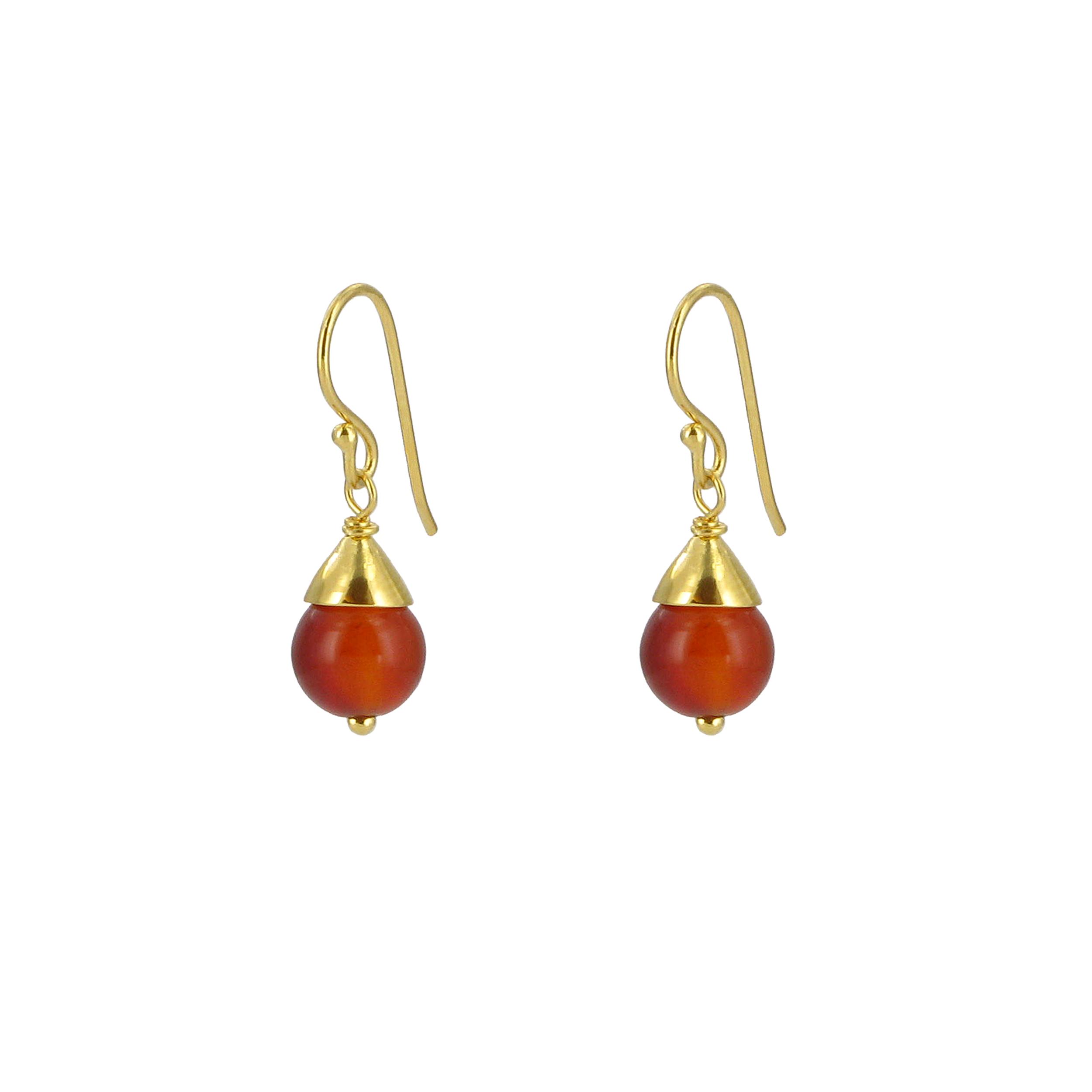 Egyptian carnelian drop earrings