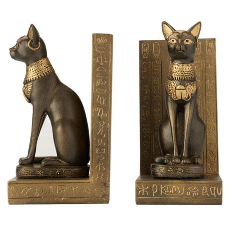 Egyptian Cat Bookends