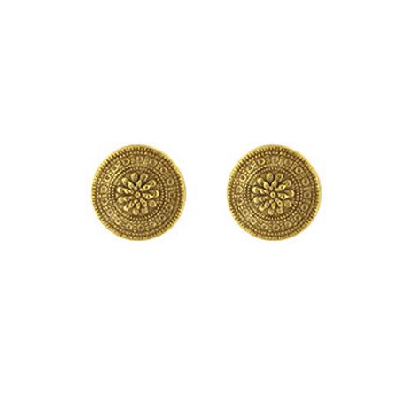 Etruscan disc earrings (gold)