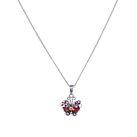 Hathaway floral butterfly necklace