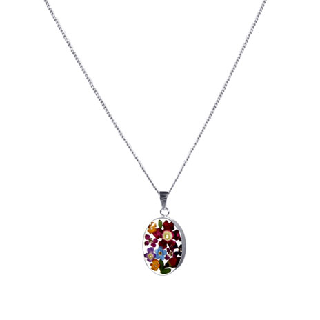 Hathaway floral oval necklace