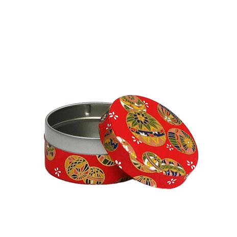 Floral round tea tin