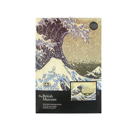 Fuji Wave cross stitch wall art