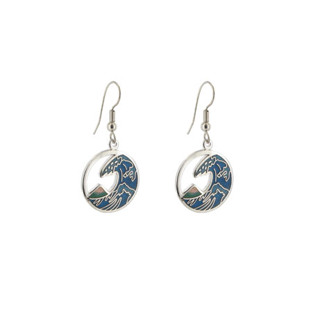 Fuji Wave drop earrings