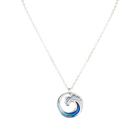 Fuji Wave Silver Necklace