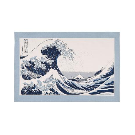 Fuji Wave tea towel