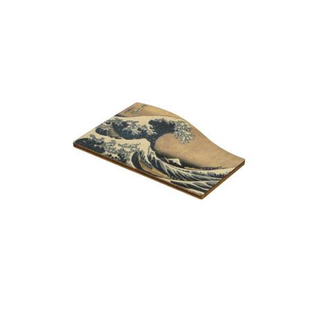Fuji Wave wooden magnet