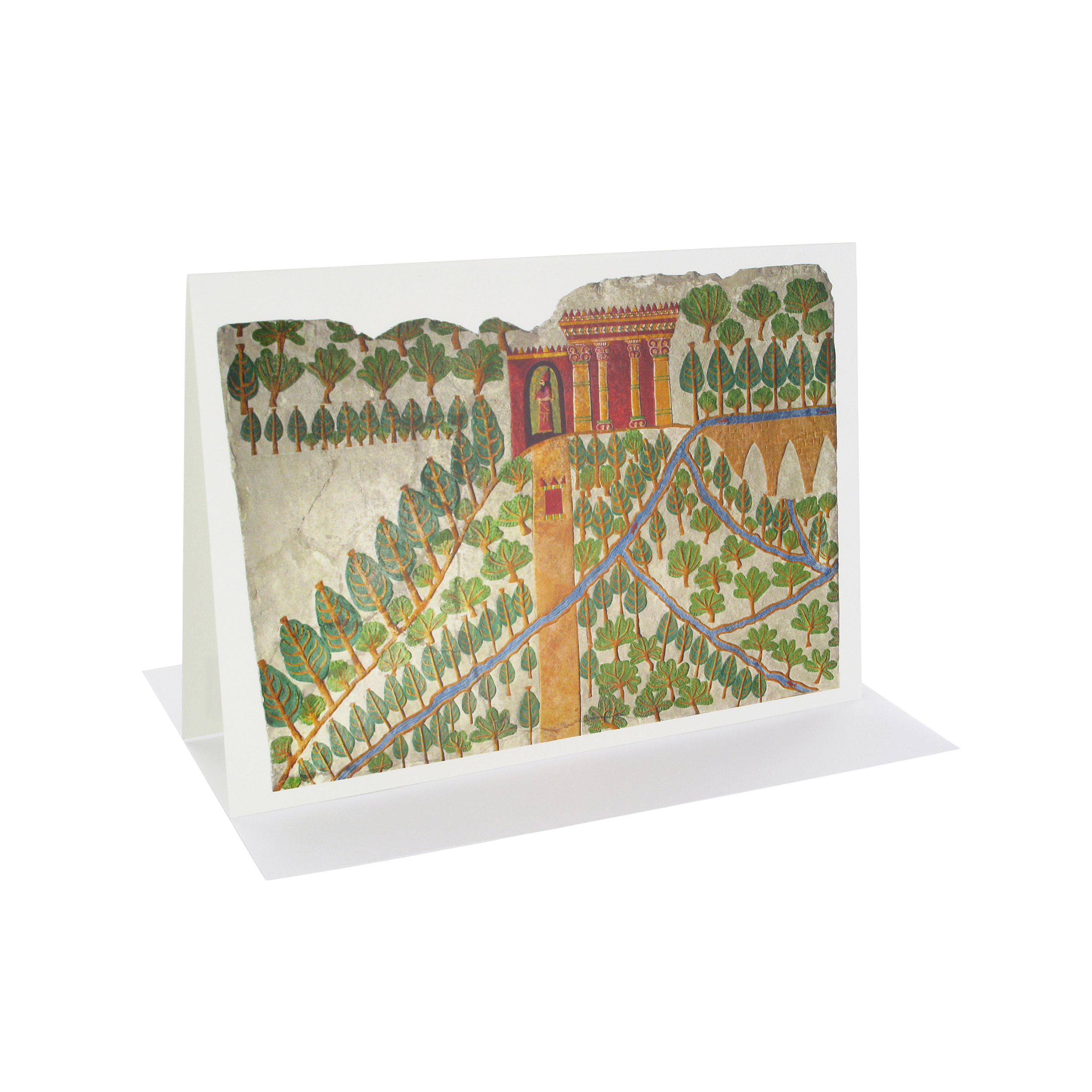 The Gardens of Nineveh greeting card