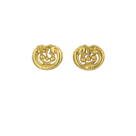Gold curved panther earrings (British Museum exclusive)
