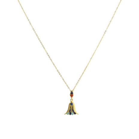 Egyptian cloisonne necklace